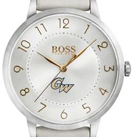 George Washington University Women's BOSS White Leather from M.LaHart