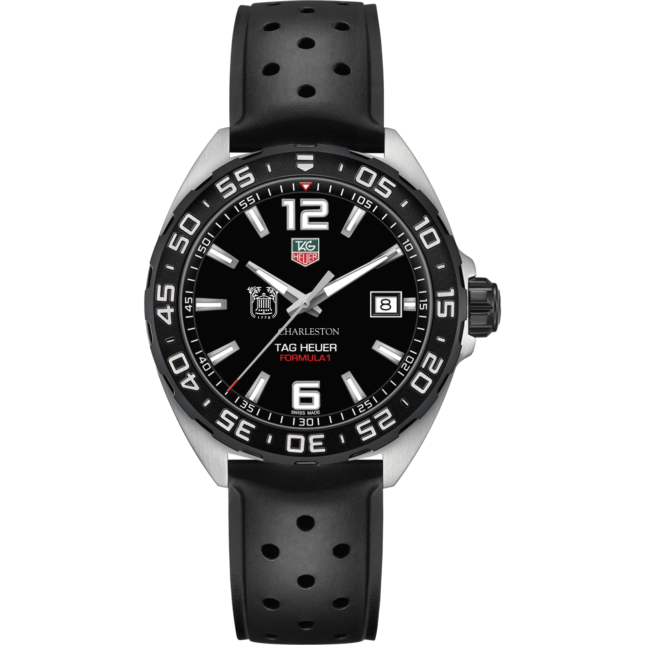 College of Charleston Men's TAG Heuer Formula 1 with Black Dial - Image 2