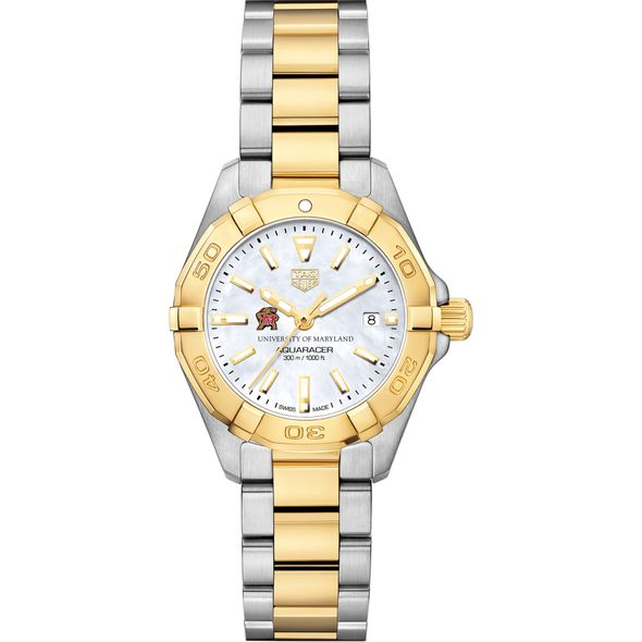 University of Maryland TAG Heuer Two-Tone Aquaracer for Women - Image 2