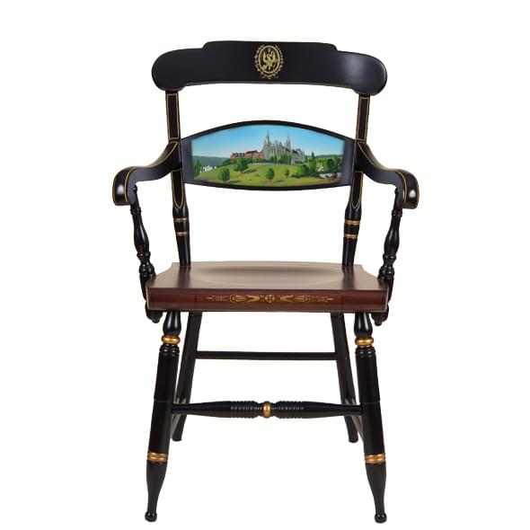 Hand Painted Georgetown University Campus Chair By Hitchcock