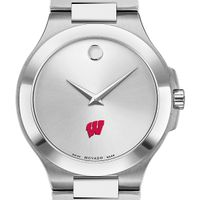 Wisconsin Men's Movado Collection Stainless Steel Watch with Silver Dial
