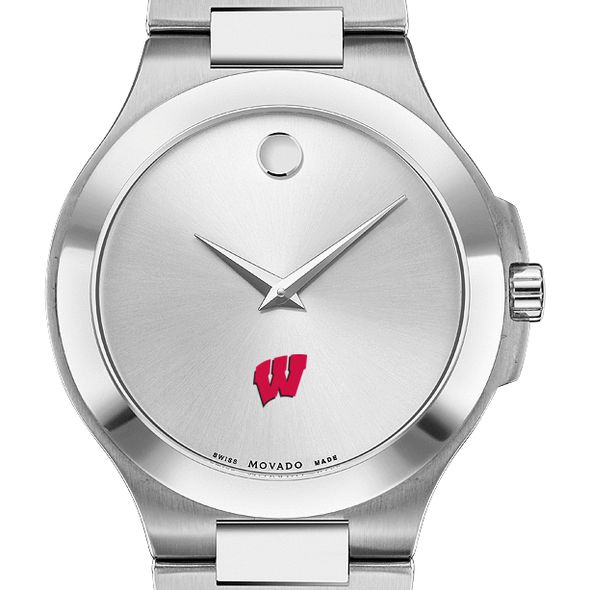 Wisconsin Men's Movado Collection Stainless Steel Watch with Silver Dial - Image 1