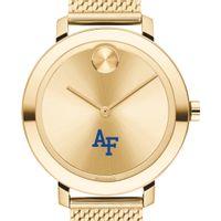 USAFA Women's Movado Bold Gold with Mesh Bracelet