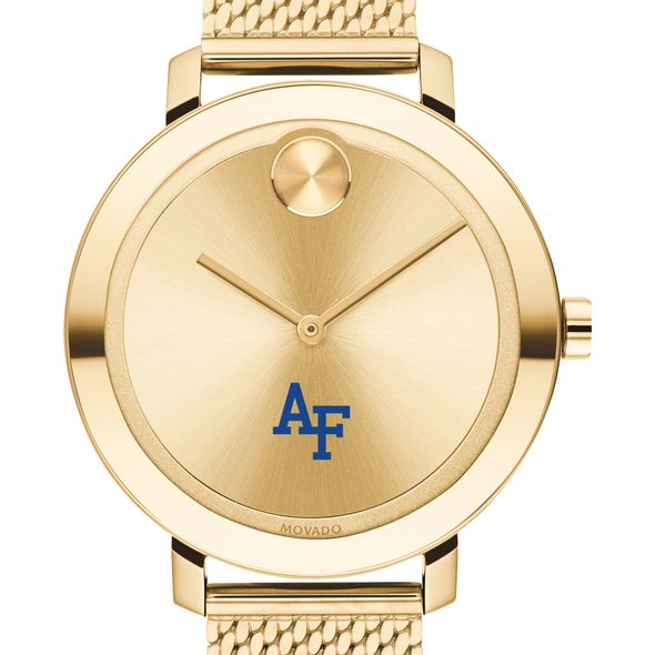 USAFA Women's Movado Bold Gold with Mesh Bracelet - Image 1