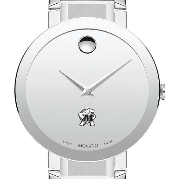 University of Maryland Men's Movado Sapphire Museum with Bracelet