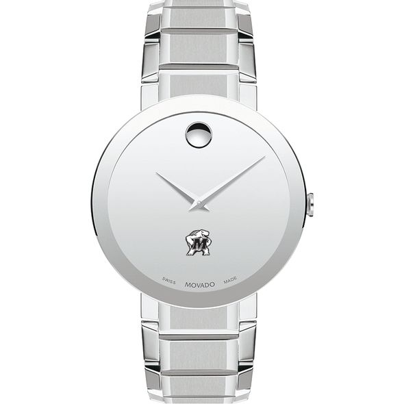 University of Maryland Men's Movado Sapphire Museum with Bracelet - Image 2