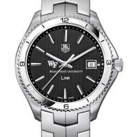 Wake Forest TAG Heuer Men's Link Watch with Black Dial