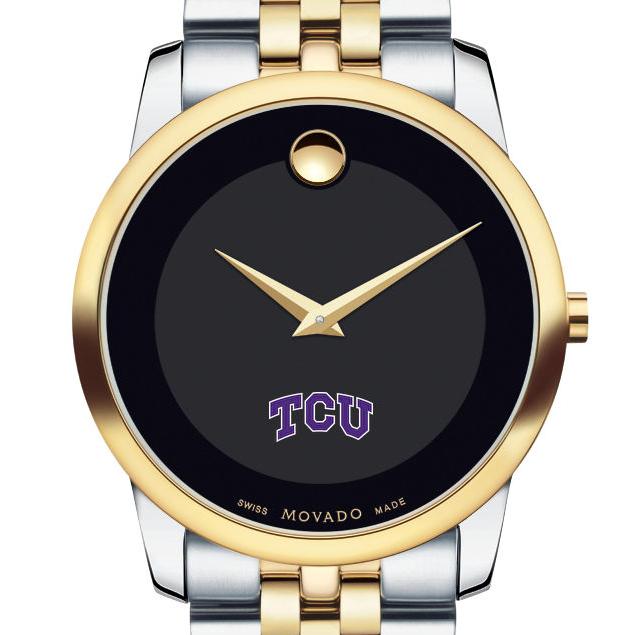 TCU Men's Movado Two-Tone Museum Classic Bracelet