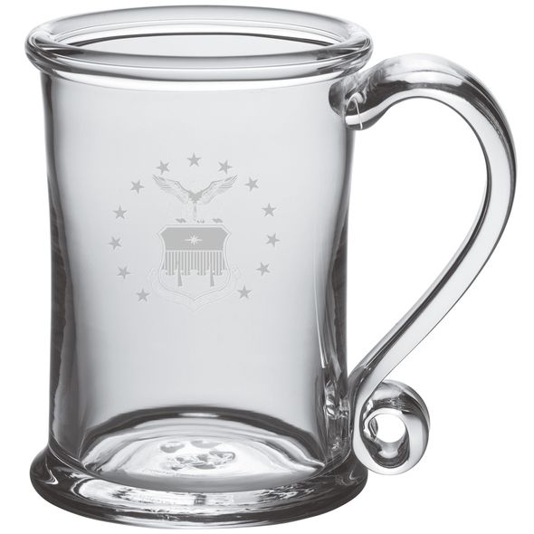 USAFA Glass Tankard by Simon Pearce