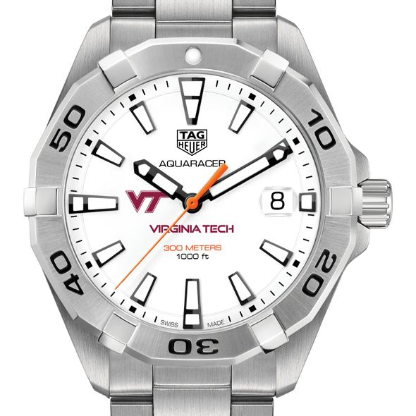 Virginia Tech Men's TAG Heuer Steel Aquaracer - Image 1