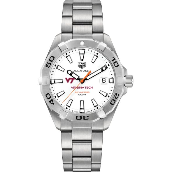 Virginia Tech Men's TAG Heuer Steel Aquaracer - Image 2