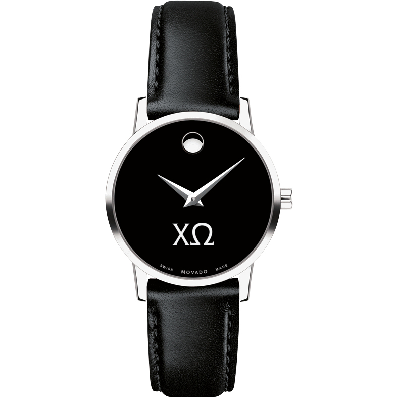 Chi Omega Women's Movado Museum with Leather Strap - Image 2