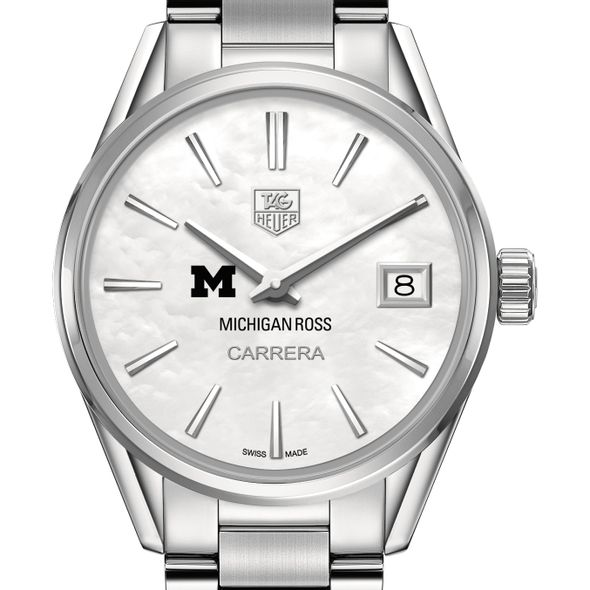 Michigan Ross Women's TAG Heuer Steel Carrera with MOP Dial - Image 1