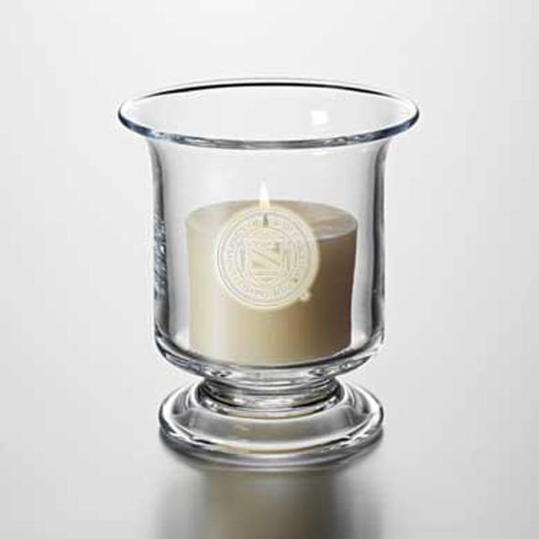 UNC Glass Hurricane Candleholder by Simon Pearce