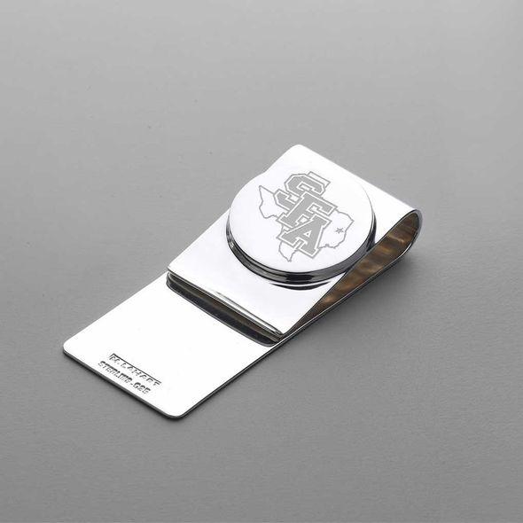 SFASU Sterling Silver Money Clip
