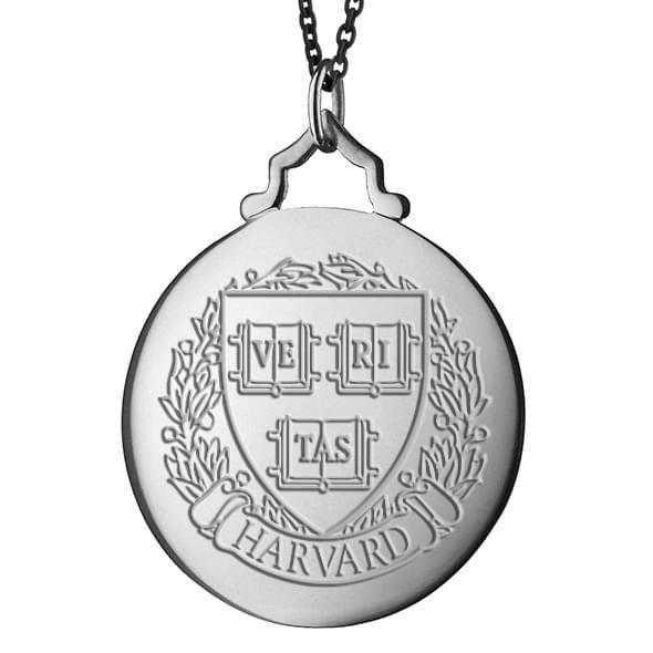 Harvard Monica Rich Kosann Round Charm in Silver with Stone - Image 2