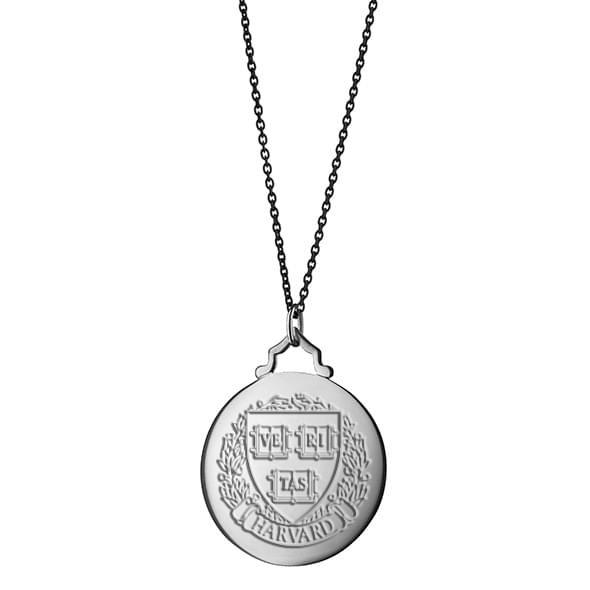Harvard Monica Rich Kosann Round Charm in Silver with Stone - Image 3
