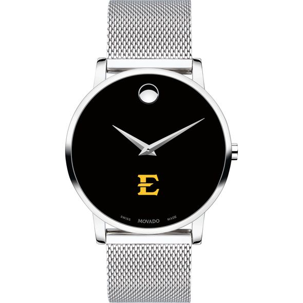 East Tennessee State University Men's Movado Museum with Mesh Bracelet - Image 2