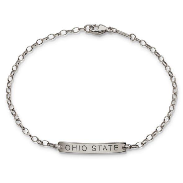 Ohio State Monica Rich Kosann Petite Poesy Bracelet in Silver - Image 1