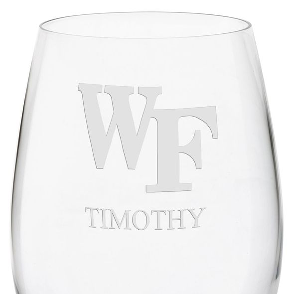 Wake Forest Red Wine Glasses - Set of 2 - Image 3