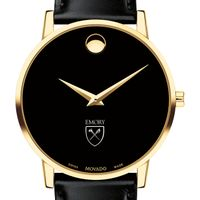 Emory University Men's Movado Gold Museum Classic Leather
