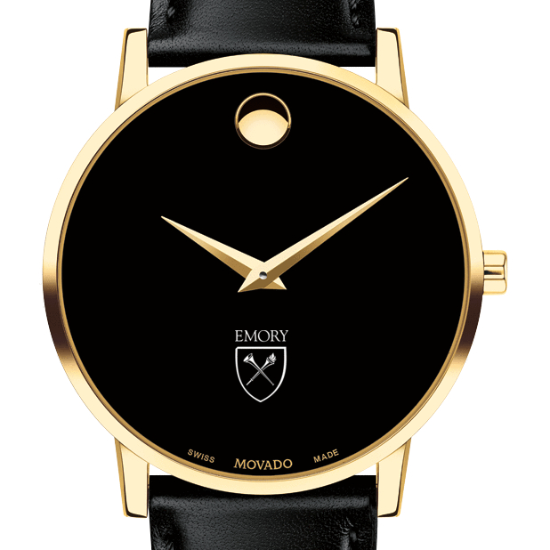Emory Men's Movado Gold Museum Classic Leather