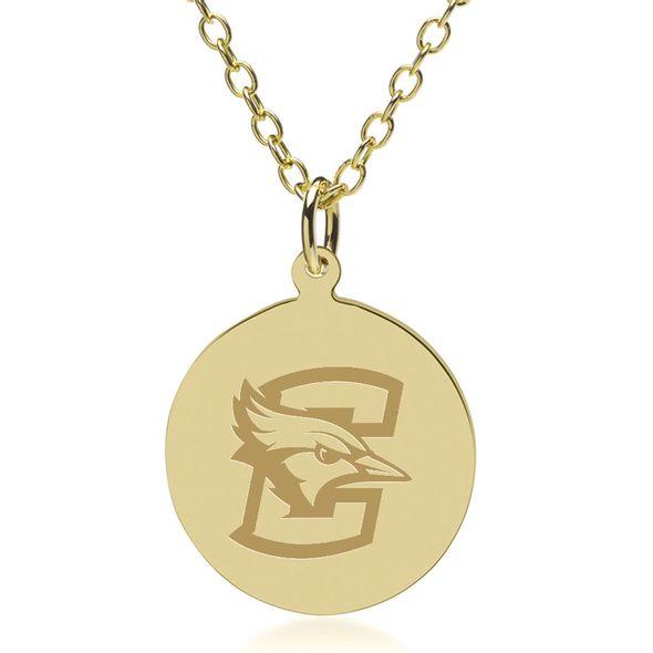 Creighton 18K Gold Pendant & Chain - Image 1