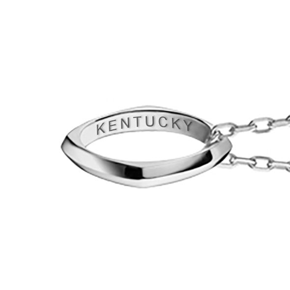 University of Kentucky Monica Rich Kosann Poesy Ring Necklace in Silver - Image 3