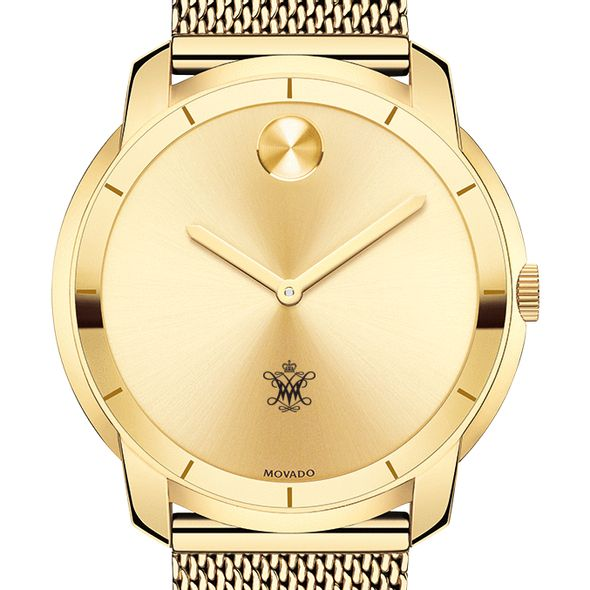 College of William & Mary Men's Movado Gold Bold 44