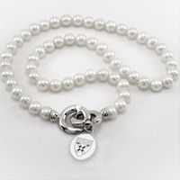Harvard Business School School Pearl Necklace with Sterling Silver Charm