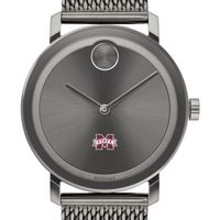 Mississippi State Men's Movado BOLD Gunmetal Grey with Mesh Bracelet