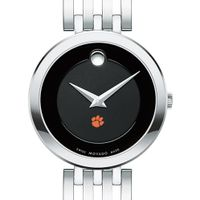 Clemson Women's Movado Esparanza Stainless Steel Museum with Bracelet