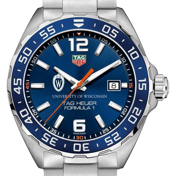 University of Wisconsin Men's TAG Heuer Formula 1 with Blue Dial & Bezel