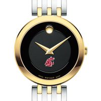 WSU Women's Movado Esparanza Two-Tone Museum with Bracelet