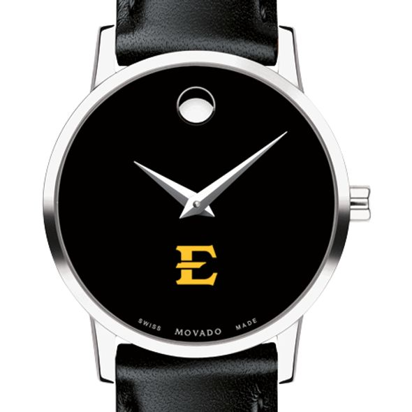 East Tennessee State University Women's Movado Museum with Leather Strap