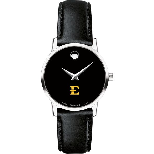 East Tennessee State University Women's Movado Museum with Leather Strap - Image 2