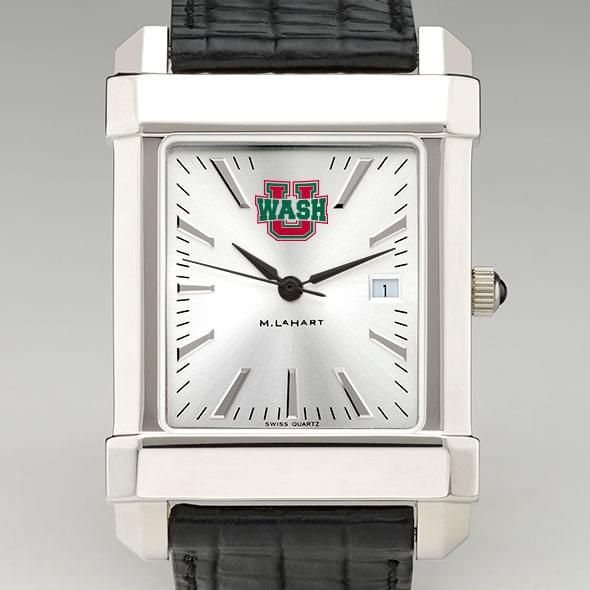 WashU Men's Collegiate Watch with Leather Strap - Image 1
