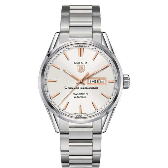 Columbia Business Men's TAG Heuer Day/Date Carrera with Silver Dial & Bracelet - Image 2