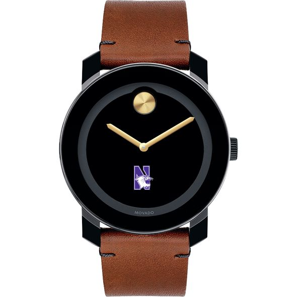 Northwestern University Men's Movado BOLD with Brown Leather Strap - Image 2