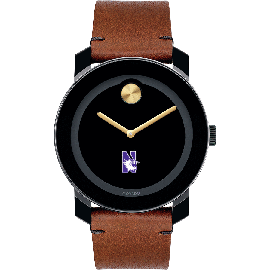 Northwestern Men's Movado BOLD with Brown Leather Strap - Image 2