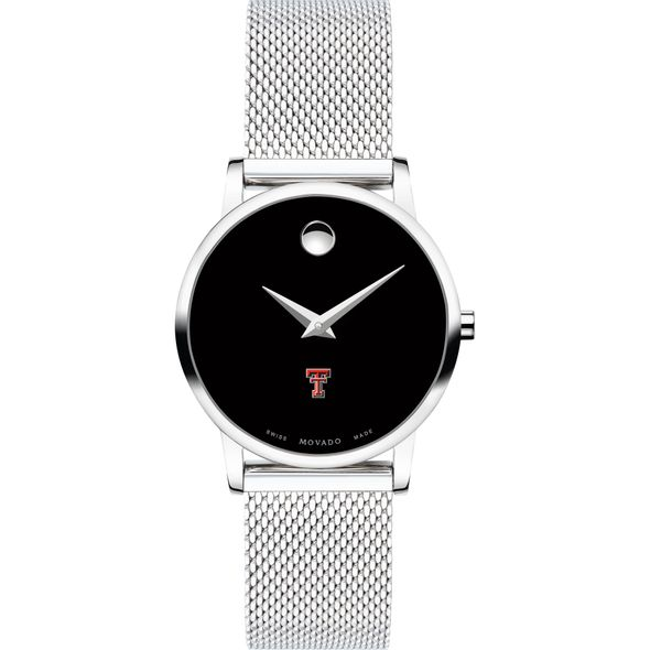 Texas Tech Women's Movado Museum with Mesh Bracelet - Image 2