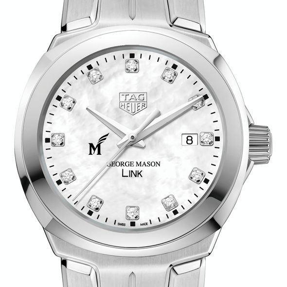 George Mason University TAG Heuer Diamond Dial LINK for Women