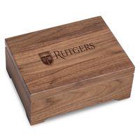 Rutgers University Solid Walnut Desk Box