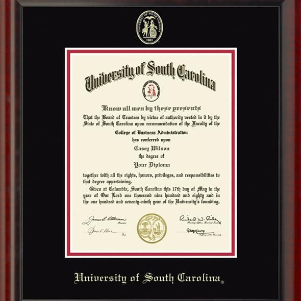 University of South Carolina Diploma Frame, the Fidelitas - Image 2