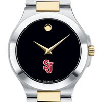 St. John's Men's Movado Collection Two-Tone Watch with Black Dial