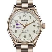 NYU Stern Shinola Watch, The Vinton 38mm Ivory Dial