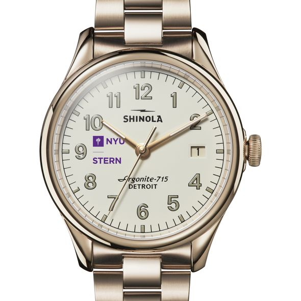 NYU Stern Shinola Watch, The Vinton 38mm Ivory Dial - Image 1