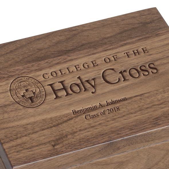 Holy Cross Solid Walnut Desk Box - Image 3