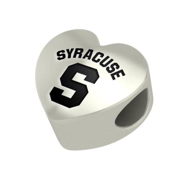 Syracuse University Heart Shaped Bead