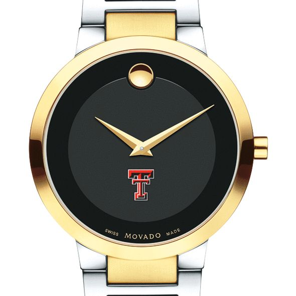 Texas Tech Men's Movado Two-Tone Modern Classic Museum with Bracelet